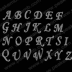 1000 images about number letter rhinestone on pinterest With heat transfer rhinestone letters