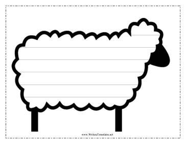 sheep template sheep writing template writing template