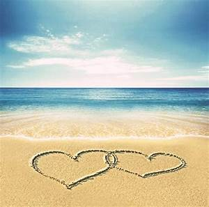 2017 Seaside Romantic Beach Sweet Heart Scenic Background ...