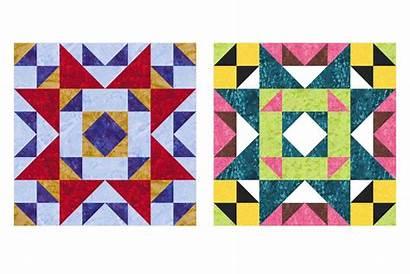 Quilt Block Puzzle Pattern Maid Mosaic Rich