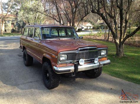 original jeep cherokee 1983 jeep cherokee wagoneer 83 532 original miles daily driver