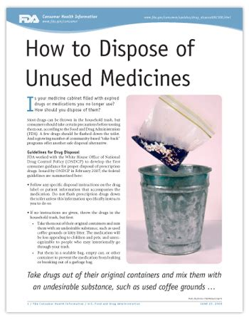 how to dispose of cooking how to dispose of unused medicines us food and drug share the knownledge