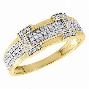 diamond trio set 10k yellow gold ladies engagement ring With mens yellow gold wedding rings