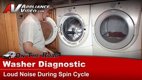 washer front load loud noise  spin cycle front