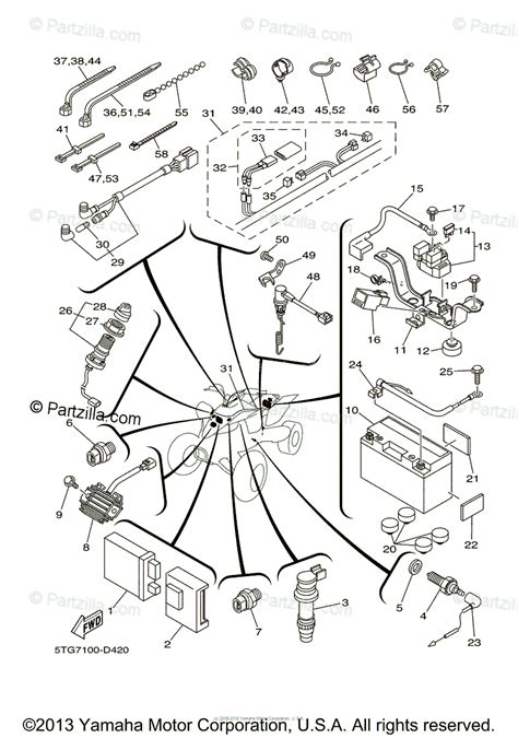yamaha atv 2005 oem parts diagram for electrical 1 partzilla