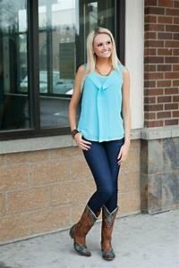 Worn over Skinny Jeans - 10 Ways to Wear Cowboy Boots ... u2026