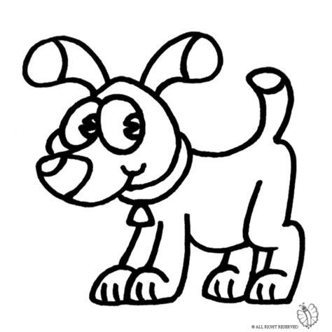 immagini di cani da disegnare per bambini disegno di con collare da colorare per bambini