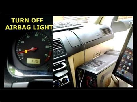 turn off airbag light volkswagen airbag light reset how to turn off your airbag