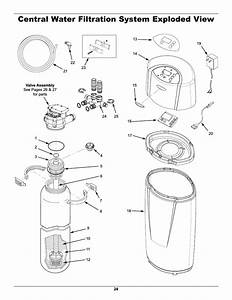 Central Water Filtration System Exploded View