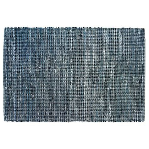 land of nod rugs rugs blue woven cotton denim rag rug the