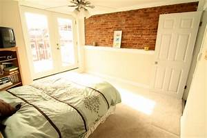 cool bedroom wall designs ideas design exposed with brick With cool ideas for bedroom walls