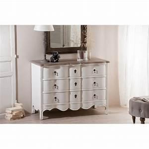 Commode à Tiroirs : commode 3 tiroirs couleur blanche manguier meubles ~ Teatrodelosmanantiales.com Idées de Décoration