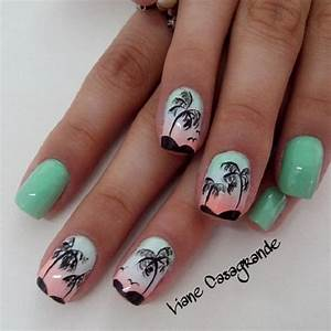 40 Palm Tree Nail Art Ideas - nenuno creative