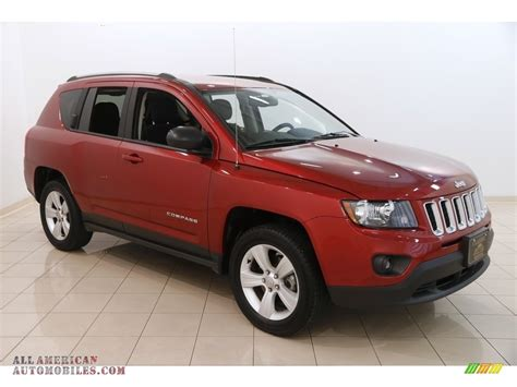 jeep compass 2017 red 2017 jeep compass sport 4x4 in deep cherry red crystal