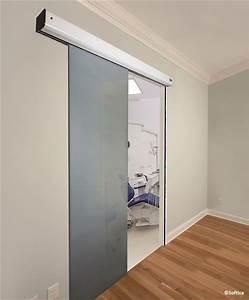 porte automatique dinterieur en applique softica portes With porte coulissante en applique