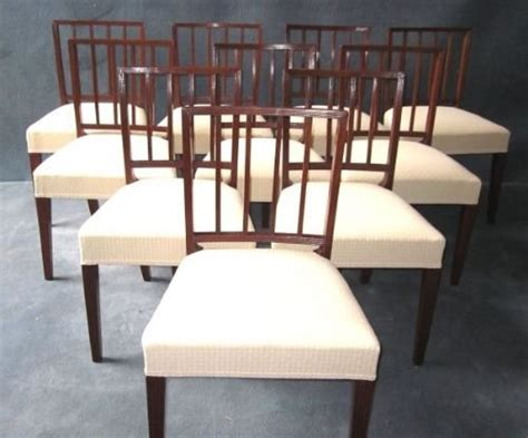 set of 10 sheraton style dining chairs 96380