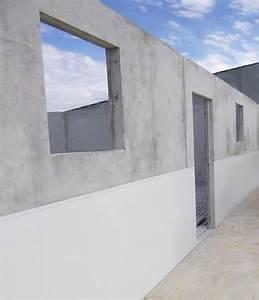Mur En Béton : murs pr falice pvc maison bleue pr fabrication b ton ~ Melissatoandfro.com Idées de Décoration