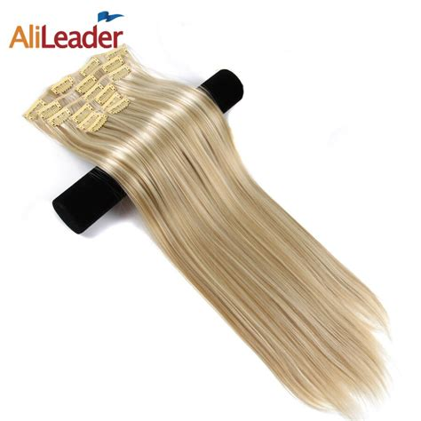Alileader Made Clip In Hair Extensions Brown Blonde Ombre