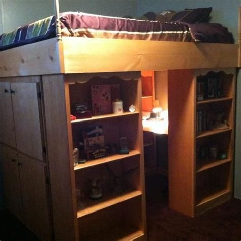 Twin Bunk Bed With Desk Ikea by Queen Size Loft Bed Photo Organization Pinterest