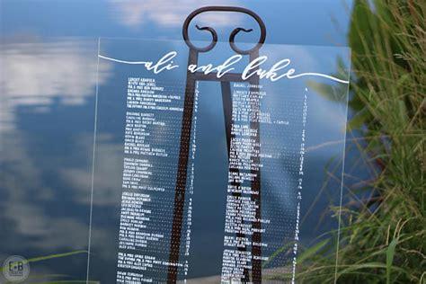 acrylic wedding signs invitations  overwhelmed bride wedding blog socal wedding