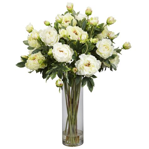 white flower table l fake floral arrangements for your table centerpiece white
