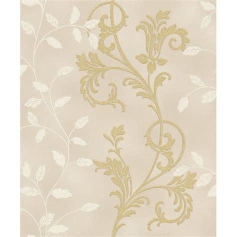 rasch diamond dust flower floral leaf motif pattern textured metallic glitter wallpaper