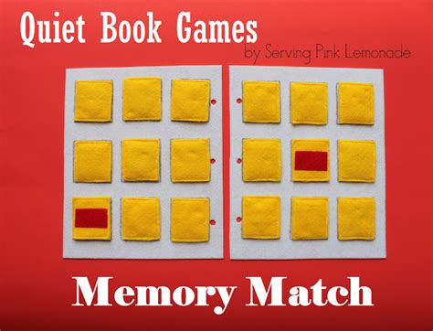 matching template serving pink lemonade book part 4 memory match free template included