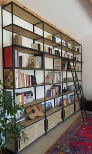 Bibliothèque Peu Profonde : bibliotheque metal ~ Premium-room.com Idées de Décoration