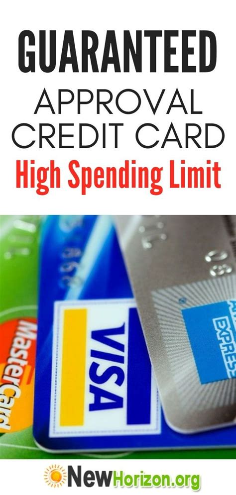 There's no guarantee you'll get the same amount; How Can I Get a Bad Credit Credit Card with a High Spending Limit?   Guaranteed approval credit ...