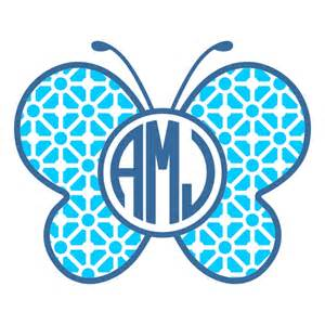 butterfly monogram svg cuttable frames