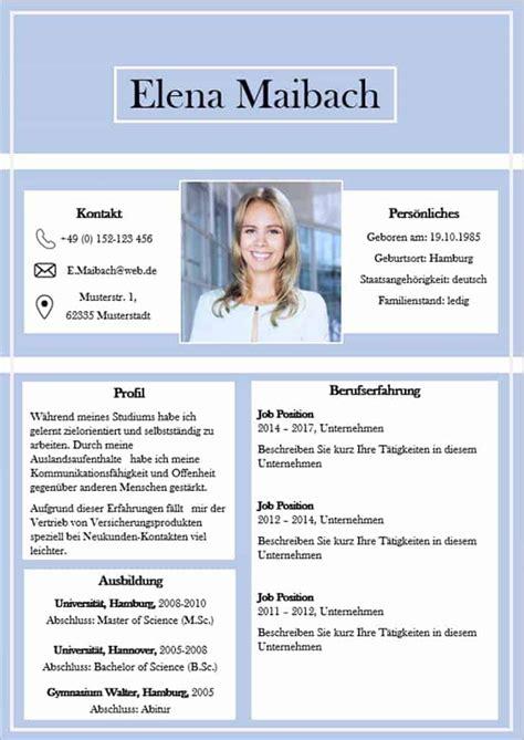 Moderner Lebenslauf 2017 by Lebenslauf Vorlage 3 Seite Cv Vorlage