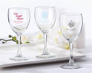 personalized wine glass 85 oz With wine glass wedding favors