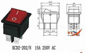 2019 Kcd2 202  N Mini Rocker Switch  Boat Switch  6 Pins 250v 15a Hole 22 28mm From Capacitors