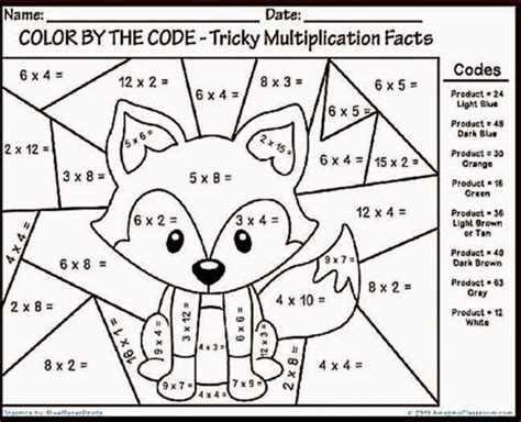3rd grade math worksheet color by number printable coloring pages for 3rd grade coloring pages