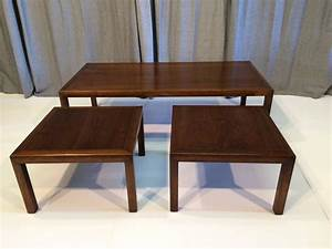 knoll style coffee table with matching side tables for With matching coffee table and end tables