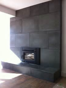 Concrete Fireplace with Tiles
