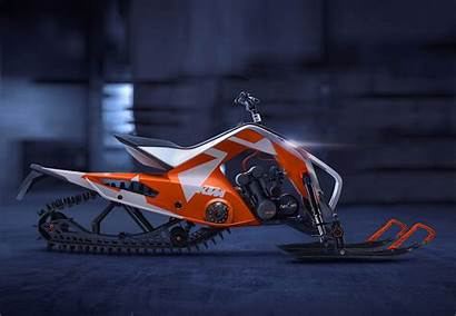 Ktm Atv Snowmobile Concept Hybrid Track Coolest