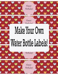 water bottle labels template cyberuse With free printable water bottle labels for birthday