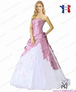 robe de mariee princesse rose et blanche la mode des With robe de mariée rose et blanche