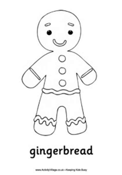 Gingerbread coloring pages Crafts and Worksheets for