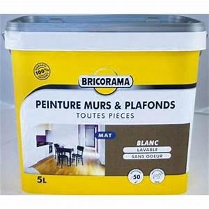 Bricorama Salle De Bain : peinture mat murs et plafonds bricorama peinture blanche ~ Dailycaller-alerts.com Idées de Décoration
