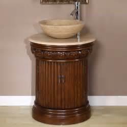 vessel sink vanity with single sink for tiny bathroom