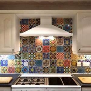 Mexikanische Fliesen Küche : fliesen wand treppen aufkleber mexikanische talavera ~ Lizthompson.info Haus und Dekorationen