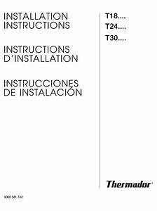 Thermador T24if70nsp  47 Installation Instructions Manual