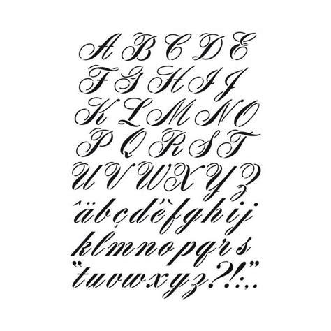 Pochoir Lettres Majuscules Et Minuscules Style Manuscrit