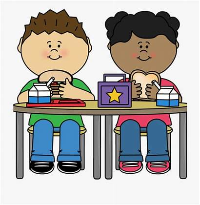Lunch Clipart Clip Eating Boy Cartoon Cliparts