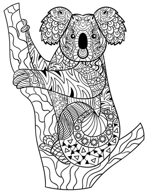 Kleurplaat Koala koala zentangle animal coloring pages for adults