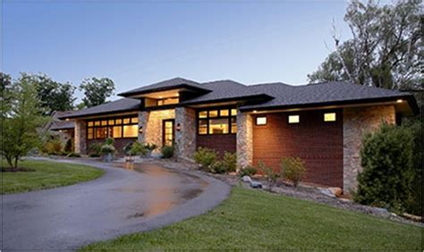 modern prairie style architecture  detroit home