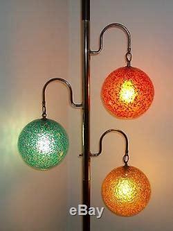vintage mid century modern atomic tension pole lamp