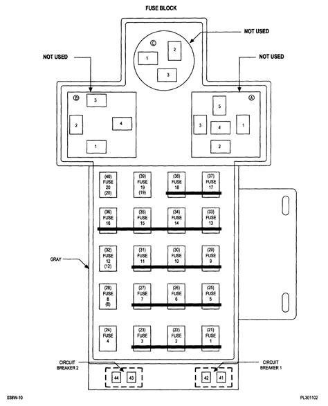 2003 Dodge Stratu Fuse Box Diagram by Wrg 4500 2003 Stratus Fuse Box